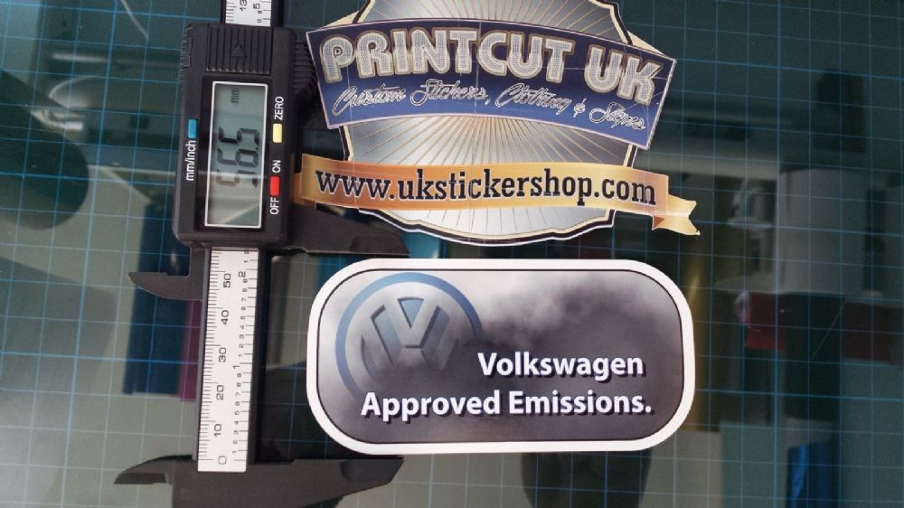 Funny Volkswagen Approved Emissions Sticker Vw Golf Touran